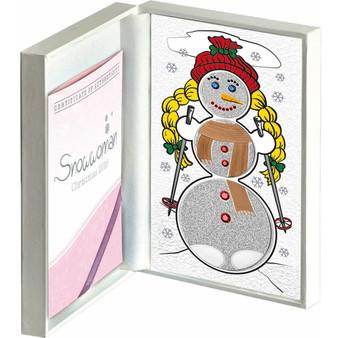 SNOWWOMAN Heart Melting 3 Coin Set Christmas Silver Proof Coin 2016