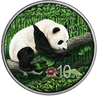 Ounce of Space - Panda - with Nantan Meteorite 10 Y 2016 China