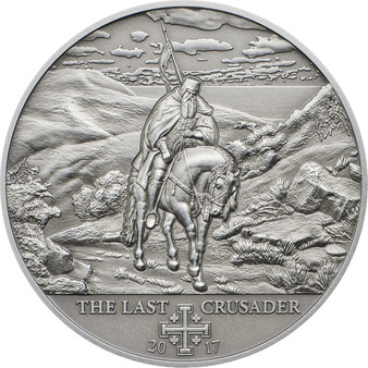 10th Crusade- Peter I - The Last Crusader Silver Coin 5$ Cook Islands 2017