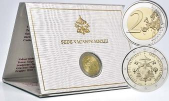 Vatican 2013 Sede Vacante MMXIII €2 Commemorative Coin