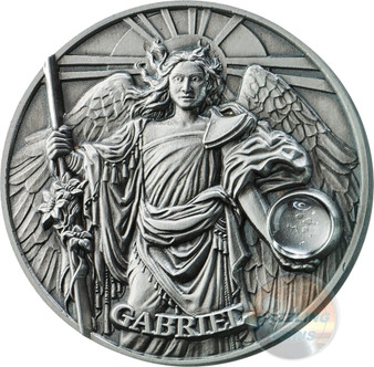 GABRIEL Choir of Angels 2 Oz Silver Coin 5$ Niue 2017
