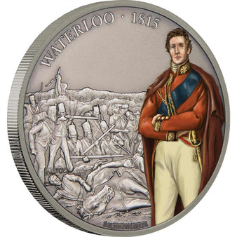 BATTLE OF WATERLOO Battles of History 1 Oz Silver Coin 2$ Niue 2017