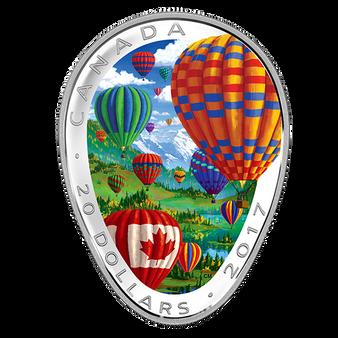 HOT AIR BALLOONS - 2017 $20 1 oz Fine Silver Coin