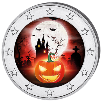 2017 HALLOWEEN Colored Coin 2 EURO
