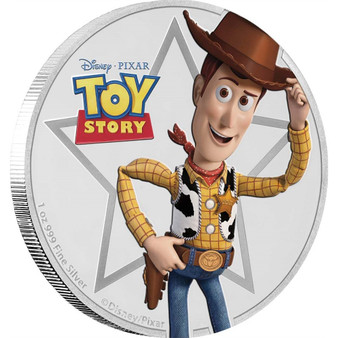 WOODY TOY STORY Disney Pixar 1oz Proof silver coin Niue 2018