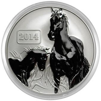 2014 Tokelau Horse 1 oz. Silver $5