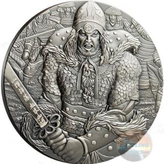 YI SOON SHIN Sun Sin 2 Oz Silver Coin 10$ Cook Islands 2017