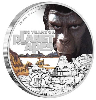PLANET OF THE APES - 50th. ANNIVERSARY 2018 1oz SILVER PROOF COIN