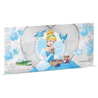 CINDERELLA Disney Princess Foil Silver Note 1$ Niue 2018