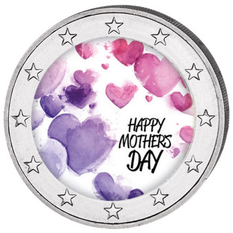 Mother's Day Colored Coin 2 EURO with OGP 2018