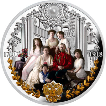 IN MEMORY OF THE ROMANOV FAMILY 1 Oz Silver Coin Cameroon 2018