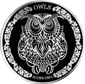 SCOPS OWL 1 Oz Silver Coin 5$ Tokelau 2018