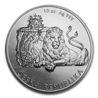CZECH double-tailed LION - 10 oz Silver Coin Niue 2018
