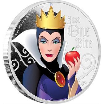 EVIL QUEEN Disney Villains 1 oz Silver Coin 2018 Niue