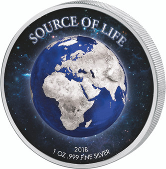 Source of Life - Earth Prooflike Silver Coin Benin 2018