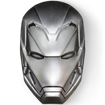 IRON MAN MASK Marvel 2 Oz Silver Coin 5$ Fiji 2019
