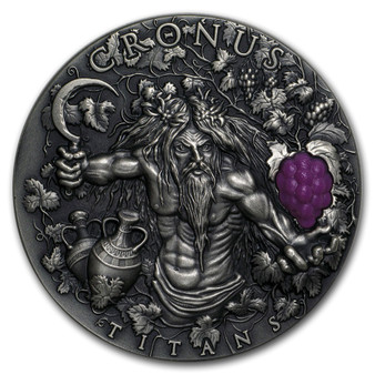 CRONUS Greek Titans 2 Oz Silver Coin 2$ Niue 2018