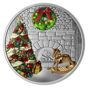 MURANO HOLIDAY WREATH 1 oz Silver Coin Canada 2019