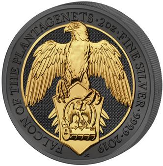 FALCON QUEEN BEASTS Golden Enigma 2 Oz Silver Coin UK 2019