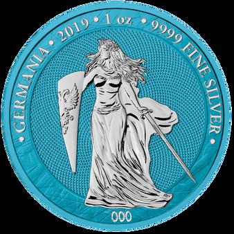 2019 GERMANIA Space Blue 5 Mark 1 Oz .9999 Silver Round