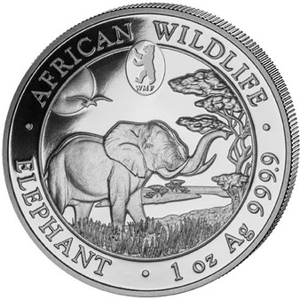 2019 ELEPHANT - Privy Mark WMF BERLIN Bear- 1 oz .9999 silver coin