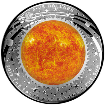 SUN World Beyond 1 Oz Silver Coin 5$ Australia 2019