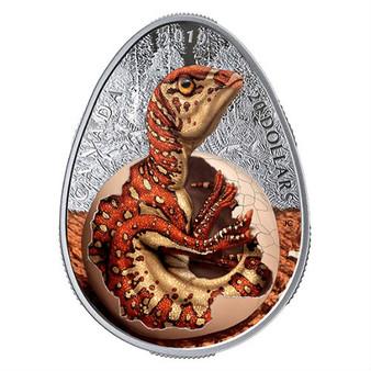 HATCHING HADROSAUR Dinosaur Glow-in-Dark 1 Oz Silver Coin Canada 2019