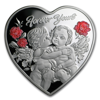 FOREVER YOURS Heart-Shaped Silver Coin 2019 Tokelau