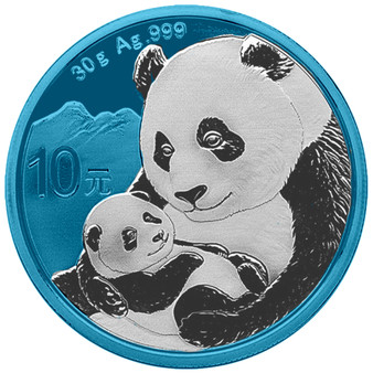 PANDA Space Blue Edition 30 g Silver Coin 10 Y China 2019