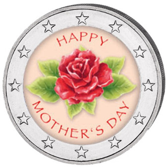 2019 Mother's Day Colored Coin 2 EURO with OGP