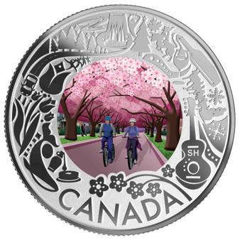 CHERRY BLOSSOM Silver Coin $3 Canada 2019