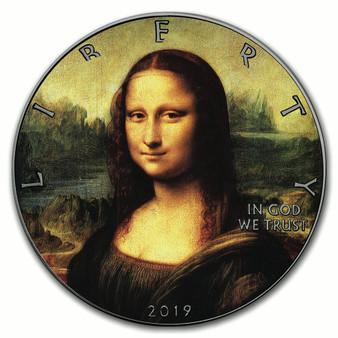 MONA LISA Leonardo Da Vinci 500th Ann. of Death 1 oz Silver Eagle Coin 2019