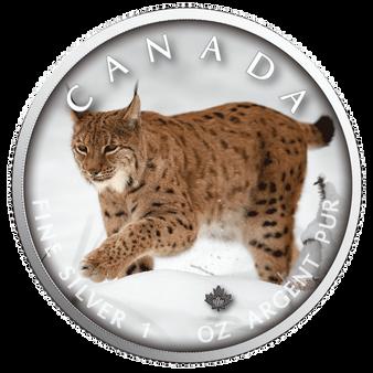 LYNX Trails of Wildlife MAPLE LEAF 1 Oz .9999 Silver Coin 2019