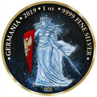ICE GERMANIA Space X 5 Mark 1 Oz .9999 Silver Round COA 2019