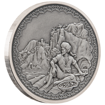 SINBAD THE SAILOR Legendary Tales 1 Oz Silver Coin 2$ Niue 2019