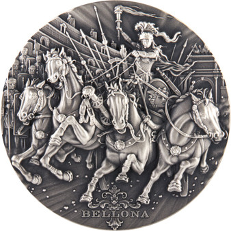 BELLONA – Roman Gods 2 oz Silver Ultra High Relief Coin Niue 2019
