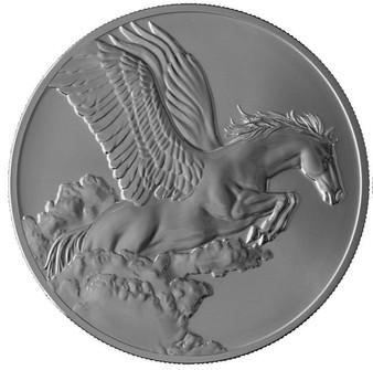 SPAWNS PEGASUS 1 oz Antique Finish Coin $5 Tokelau 2014