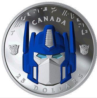 TRANSFORMERS - OPTIMUS PRIME $25 1 OZ Silver Proof High-Relief Coin Canada (