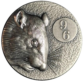 96 RAT- 2 Oz Silver Ultra high relief coins 2020 Niue