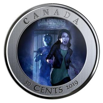 SPOOKY CANADA - HI OTTAWA JAIL HOSTEL Lenticular Coin Canada 2019