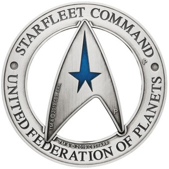 STARFLEET COMMAND EMBLEM STAR TREK™ - 3 oz 2 Coin set Tuvalu 2019