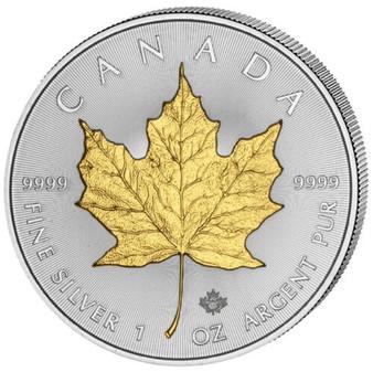 Maple Leaf 1 oz Silver Gilded Coin Canada 2020
