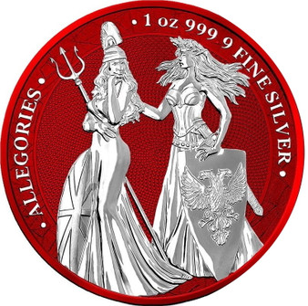The Allegories 2019 Britannia & Germania 1 oz Silver Space Red