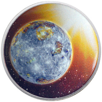 Solar System - MERCURY 1 Oz Silver Proof Dome shaped Color Coin 2020 USA