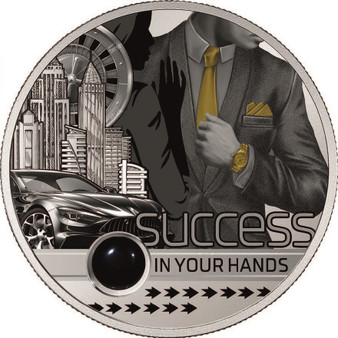 SUCCESS IN YOUR HANDS 1 Oz Silver Coin 1000 Fr Cameroon 2020