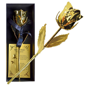ETERNAL LOVE - Natural Rose 24K Gold Plated 16 cm - 152 g in Gift Box