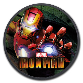 IRON MAN Marvel series 1 oz Silver Ruthenium Color Coin Tuvalu 2018