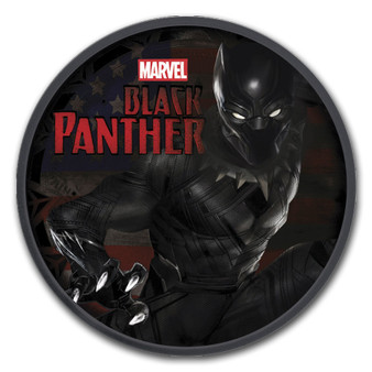 BLACK PANTHER Marvel series 1 oz Silver Ruthenium Coin Tuvalu 2018