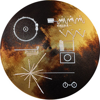VOYAGER GOLDEN RECORD Sounds of Earth Silver Coin Cook Islands 2020