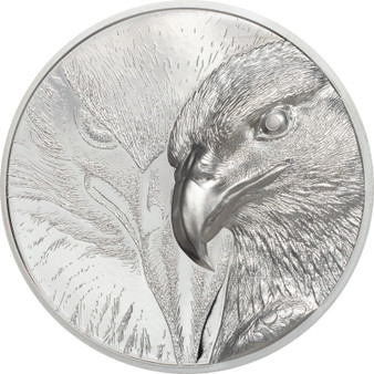 MAJESTIC EAGLE 3 oz Silver Proof Coin 2000 Togrog Mongolia 2020